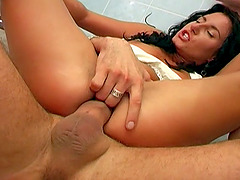 Thick cock anal sex with a slut dressed up for fucking