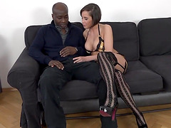 Sexy Wife Ana Bell Evans Takes It Up the Ass from a Black Dude