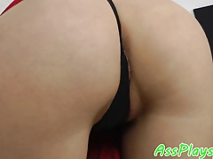 Cocksucking eurobabe assfucked by fat cock