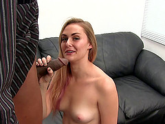 Riley cherishing massive dick with blowjob in reality porn