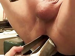 Dude gets his ass hole stretched out by his mistress