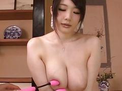 Rie Tachikawa busty beauty amazes in raw sex show