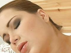 Blond is cherishing dudes dong with wet blowjob