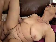 lusty granny donatella loves riding a horny dudes hard cock