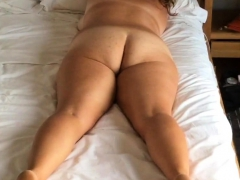 bedroom hidden cam unaware MILF