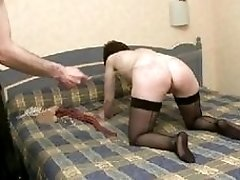 Big ass slave gets whipped by the master BDSM porn