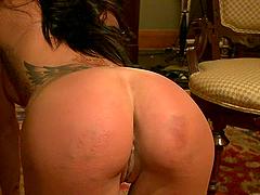 Tight Slut Sucks Dicks in BDSM Video