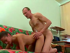 Gorgeous Brunette Teen Having Sex with an Old Man