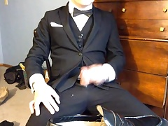I cum on my dress shoes and trousers