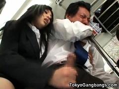 Perverted Japanese Girl In Public!