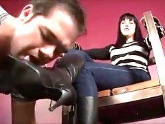 fetish - lick my high heel boots.mp4