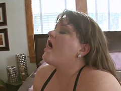 naughty fatty milf with juicy boobs fucked on bed