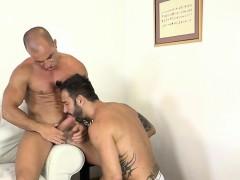 Big cock gays anal sex and facial
