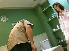 English Nurse bathroom anal