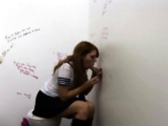 Cfnm teen at gloryhole