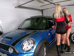 Hot compilation of sexy gals who're busy with eating pussies in the garage