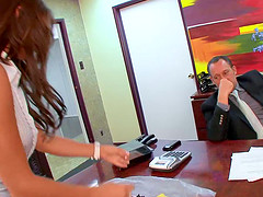 Bella Rey is a sexy secretary who shows up for work everyday, wearing