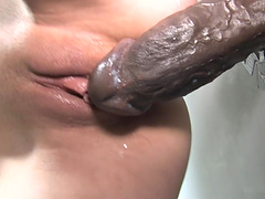 White chick hungry for some black cock gets fucked and jizzed