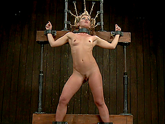 Insane fucking perverted bdsm scene with blonde bitch