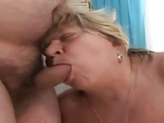 Big Tit BBW Granny Sucks and Fucks