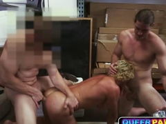 Blond Muscle bound Surfer fucked in a pawn shop