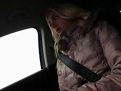 Hot Victoria gets banged at the backseat after bei
